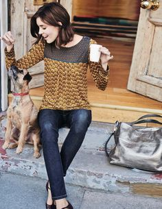 Chepstow Top WL835 Long Sleeved Tops at Boden