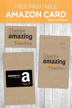 Teacher thank you card idea. A gift that your kid's teacher will be excited about and actually want to use. #papertraildesign #appreciation #thankyou #amazoncardthankyou #teacherthanks #thanksteacher #thankyoucard
