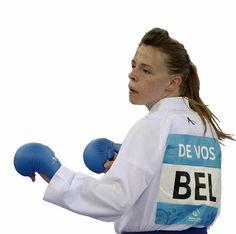 Nele De Vos uit Hoeselt, enige Belgische op het EK Karate in Turkije.