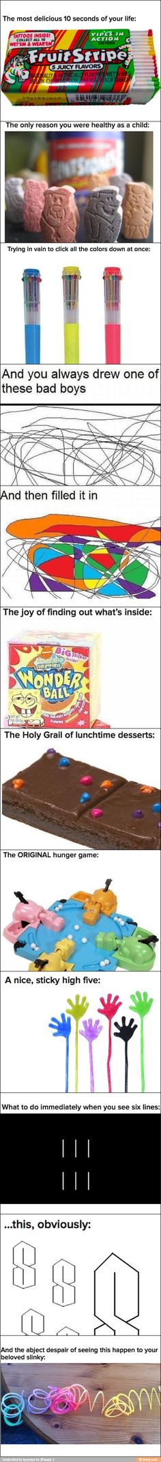 A 90's child every single one of those things is so true!!! Just missing POGS, nano pets and something spice girls lol.