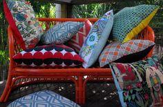 Vintage clothes into decorative pillows!
