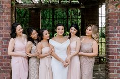 Blush Bridesmaids Bridesmaids, Bridesmaid Dresses, Wedding Dresses, Spring Day, Wedding Styles, Wedding Day, Blush, Elegant, Floral