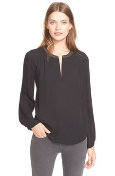 Joie 'Krisha' Embellished Collar Silk Blouse available at #Nordstrom