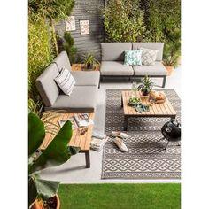 Le Sud loungeset Valence - 4-delig | Leen Bakker Outdoor Couch, Outdoor Living, Outdoor Decor, Outdoor Ideas, Patio, Backyard, Diy Couch, Lounge, Sofa Design