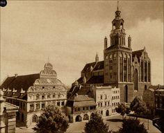 Stargard in Pommern,Rathaus mit Marienkirche Kirchen, Notre Dame, Big Ben, Building, Travel, Europe, Pictures, German Language, Voyage