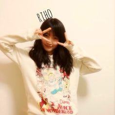 第9期メンバー鞘師里保 ファッション ユニクロ W Disney ProjスウェットプルパーカD01 Morning Musume 9th Generation Member #Riho #Sayashi from 高橋愛オフィシャルブログ「I am AI」