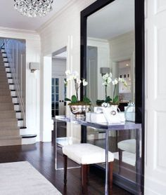 Mirror, hallway / entryway, stairs, chandelier... all just beautiful! ~UR