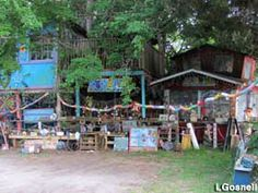 Mary's Gone Wild Treehouses, NC This is the sort of great folk arty thing I want to find along the way.