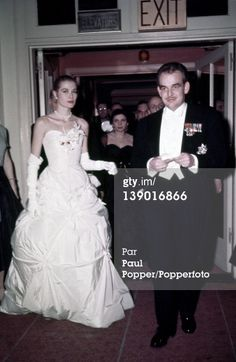 Photo d'actualité : American actress Grace Kelly and her fiance...