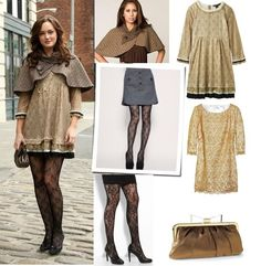 Consigue el look de Blair Waldor en Gossip Girl, perfecto para otoño, clásico y elegante. #GetTheLook #Vivalochic #Fashion #Dress