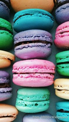 Wallpaper iphone/sweet ⚪ iphone wallpapers fond ecran iphone, fond d' Macaroons, Macaroon Wallpaper, Cute Food Wallpaper, Wallpaper Ideas, Le Chef, Meals For Two, Cute Wallpapers, Iphone Wallpapers, Food And Drink