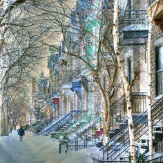Winter street - Montreal (Canada)  Photo: Jean Louis Desrosiers