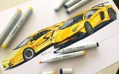 By @berkayazc    #lamborghini #diablo #diablosv #aventador #aventadorsv #copic #marker #sketch #italiancar #supersport #racingcar #cardrawing #illustration #gatinky #drawing #instaart #design #modernart #instagood #carporn #dibujo #arte