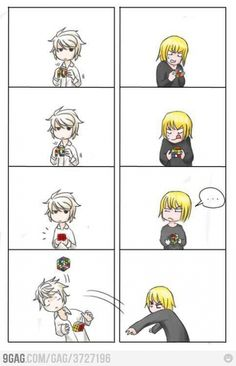 I know dat feeling Mello... Death Note related awesome 4 panel comic.