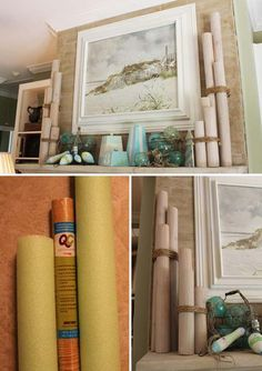 Nautical pilings from foam pool noodles: Top 21 The Best DIY Pool Noodle Home Projects and Lifehacks