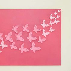 DIY three dimensional wall art.  Easy and inexpensive!