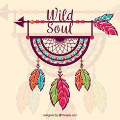 Boho style background with flat design Free Vector Vector Cute Doodle Art, Doodle Art Designs, Doodle Art Drawing, Mandala Drawing, Pencil Art Drawings, Art Drawings Sketches, Soul Design, Design Art, Flat Design