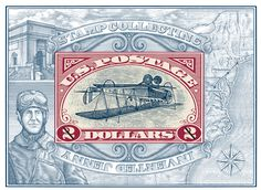Inverted Jenny Stamp illustrated by Steven Noble