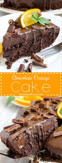 Make with Terry's Chocolate orange maybe? Chocolate Orange Cake - Real chocolate madness and perfect cake for chocolate lovers! Chocolate Orange Cake is moist, rich, flavorful, delicious and simply gorgeous! Chocolate Desserts, Chocolate Lovers, Cake Chocolate, Terrys Chocolate Orange Cake, Chocolate Cream, Just Desserts, Delicious Desserts, Yummy Food, Cake Recipes