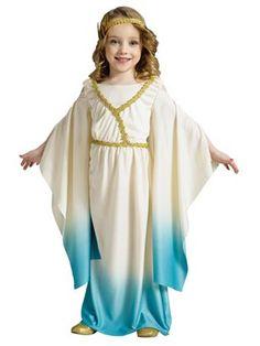 Athena Goddess Child Girls Costume - Girls Greek/Roman Halloween Costumes