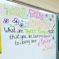 My answer:Last before spring break! My answer:before spring break! My answer:Last before spring break! My answer: Spring Break, Morning Activities, Teaching Activities, Teaching Ideas, Daily Writing Prompts, Writing Ideas, Morning Board, Bell Work, Responsive Classroom