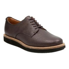 Women's Clarks Glick Darby Lace Up Shoe Dark Brown