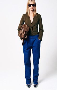see by chloe spring 2013 Cotton gabardine jacket Cotton gabardine trousers