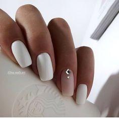 Exact nails, cute fashion nails, delicate wedding nails, long nails, nails for . # for # wedding nails # fashion nails. Nail Polish, Nail Manicure, White Manicure, Matte White Nails, White Nail Art, Long White Nails, Nail Pink, Orange Nail, White Polish