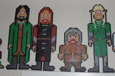Lord of the Rings Perler Bead Sprites (Aragorn, Boromir, Legolas and Gimli) by CuriousFelis