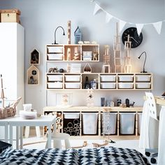 nothing like the small storage ikea trofast - Ikea DIY - The best IKEA hacks all in one place Trofast Ikea, Bedroom Organisation, Organization Hacks, Playroom Storage, Ikea Playroom, Organized Playroom, Playroom Ideas, Ikea Toy Storage, Bedroom Storage