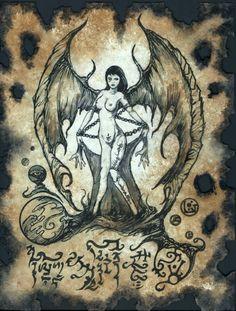 Cosplay LARP Succubus Necronomicon Demon Grimoire Occult Dark Spirits Magick | eBay