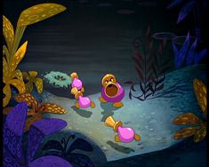 Horn ducks. Tulgey woods inhabitants, from Disney's Alice in Wonderland movie.