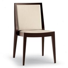 Restaurant chair / contemporary / solid wood / for public buildings FLAME by Edi & Paoli Ciani Montbel