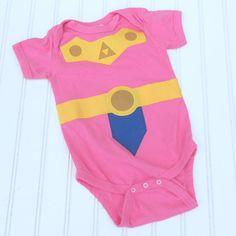 Great Halloween costume or Baby Shower gift Onesie Inspired by Legend of Zelda, Princess Zelda sewn cotton applique