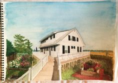 https://flic.kr/p/Ptb2Gd | house portrait | house in Saltaire, Fire Island