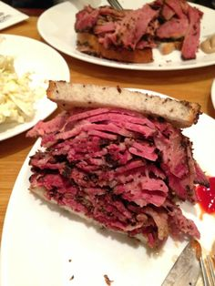 The best pastrami sandwiches are at the Carnegie Deli in Manhattan, NY