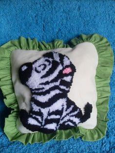 Almofada ponto Russo - Zebra
