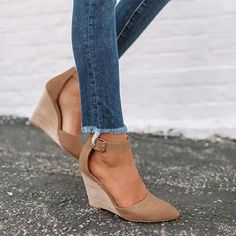 Ankle Strap Heels, Strap Sandals, Wedge Heels, Pumps Heels, Summer Wedge Sandals, Summer Wedges, Black Wedge Sandals, Shoes Sandals, Shoes Sneakers