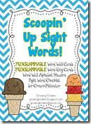 Growing kinders: scoopin up sight words