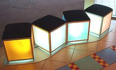 Perspex®  Frost Mitchell Plastics Frost Seats; even illumination, slim profiles and reduced energy consumption.