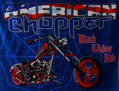 Black Widow Bike Panel Fabric Quilt American by 777VintageStreet