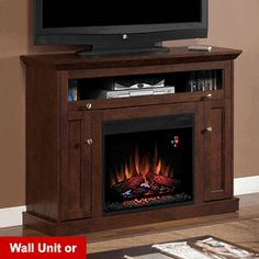 "Windsor 23"" Cabinet Corner Electric Fireplace in Antique Cherry - 23DE9047-PC81"