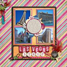 Great Vegas Scrapbook page layout!