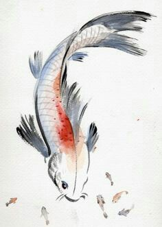 Chinese Ink Brush Painting (Event) Children's Museum of Manhattan, New York, NY - kid events Japanese Drawings, Fish Drawings, Japanese Art, Japanese Painting, Chinese Painting, Chinese Art, Chinese Brush, Japanese Watercolor, Koi Art