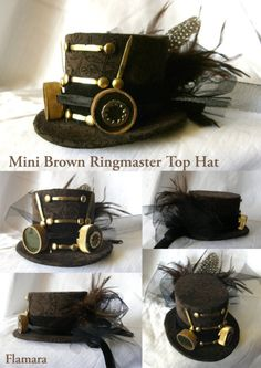 A plain steampunk costume becomes fabulous with the right hat.