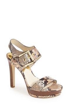 MICHAEL Michael Kors 'Becca Leather Platform Sandal (Women) | No