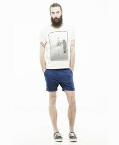DR.DENIM/ドクターデニム - WOOD Short Pants Chino ショートパンツ Dry Blue (ドライ・ブルー200) - SIAMESE (サイアミーズ) オンラインセレクトショップ