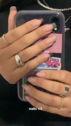 Edgy Nails, Stylish Nails, Swag Nails, Stylish Rings, Classy Nails, Bling Nails, Simple Acrylic Nails, Best Acrylic Nails, Acrylic Nails Coffin Short