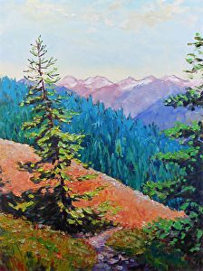 Summer day on Hurricane Ridge, oil