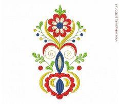 Výšivka Vajnory, 15x27 cm Diy Embroidery Patterns, Folk Embroidery, Folk Art Flowers, Flower Art, Polish Folk Art, Hungarian Embroidery, Scandinavian Folk Art, Rose Of Sharon, Heart Art